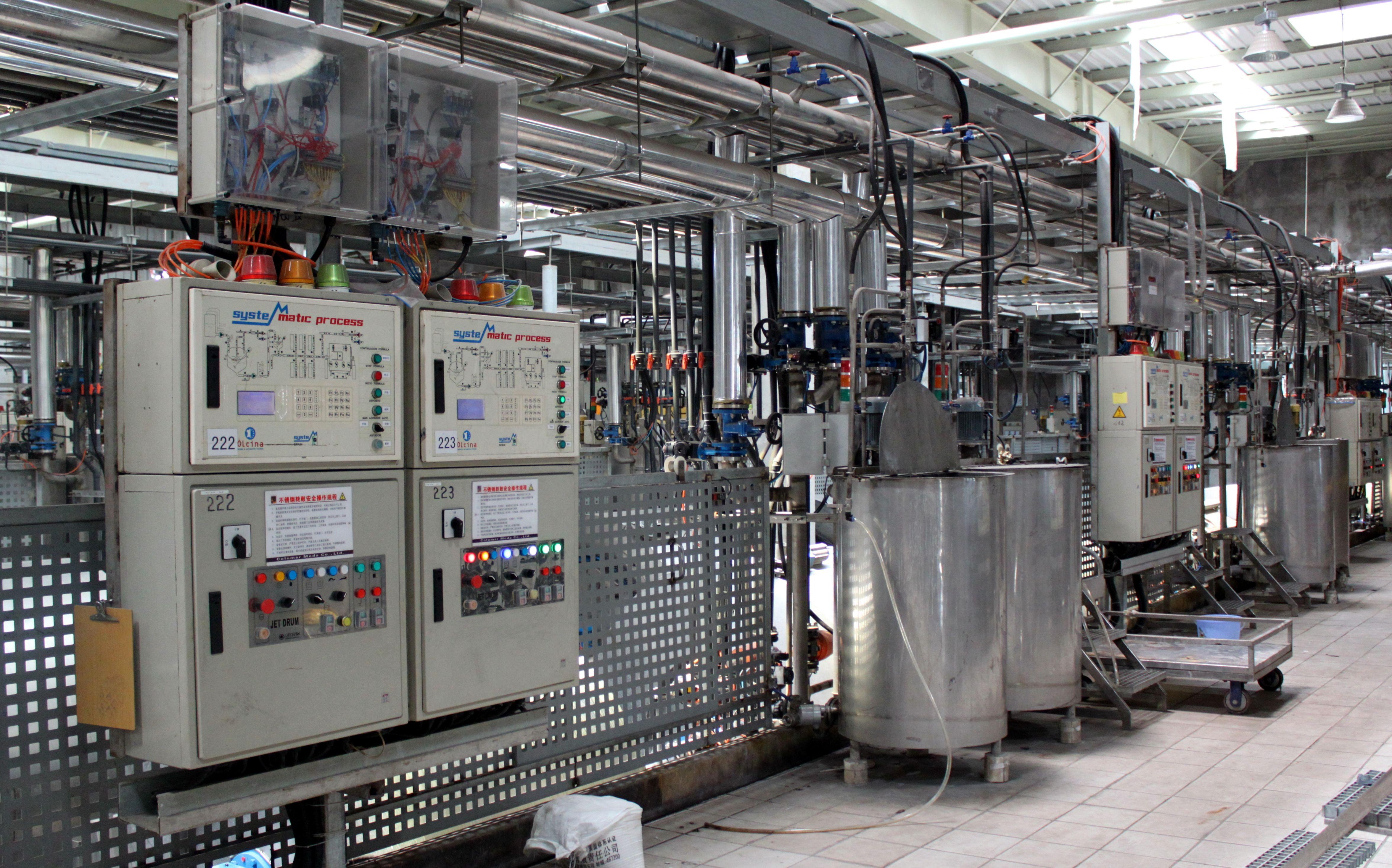 System Process volle Kontrolle der Gerberei Automatización para la tenería